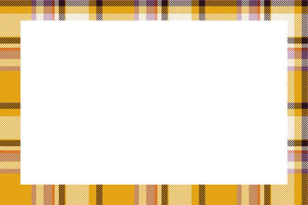 Vintage frame vector. Scottish border pattern retro style. Beauty empty background, template for photo, portrait, album. Tartan plaid ornament. Ilustrace