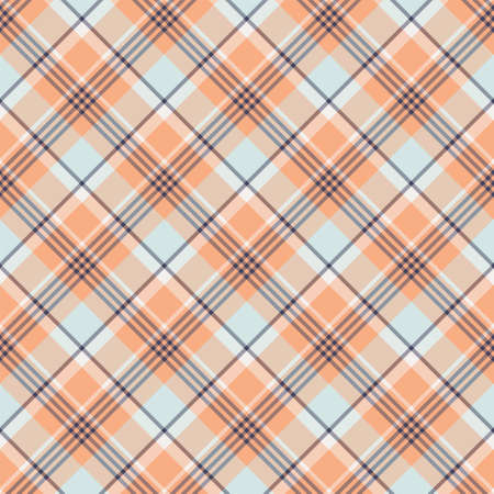 Check plaid seamless pattern. Vector background of textile ornament. Flat fabric design. Tartan.
