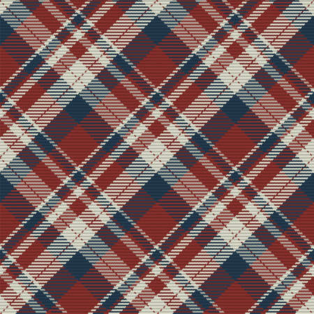 Seamless pattern of scottish tartan plaid. Repeatable background with check fabric texture. Flat vector backdrop of striped textile print. Vektorové ilustrace