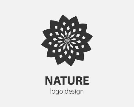 Logo spiral and swirl motion. Vector twisting circles design element for company. Logo