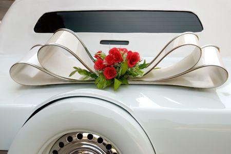 White  limousine photo