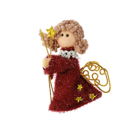 Christmas doll an angel made of a fabric and a wool Stock Photo - 3654274