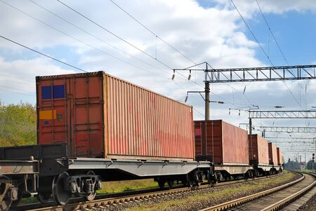 substructure: The train transportation of cargoes by rail in containers