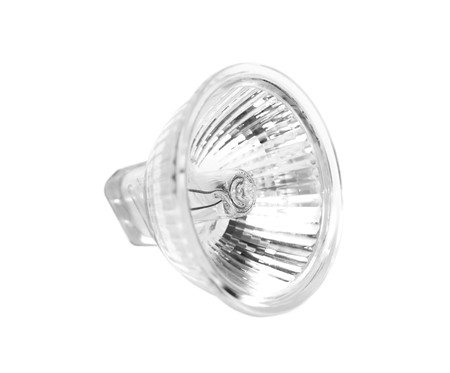 halogen: Halogen lamp projector isolated on white