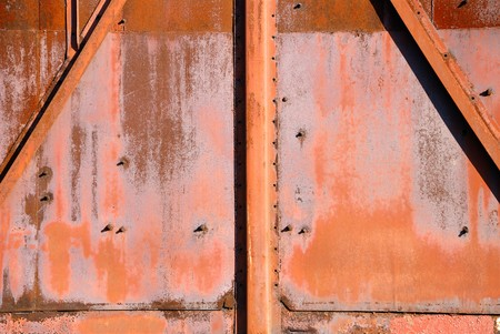 Background from iron covered with a rust Stock Photo - 4286259
