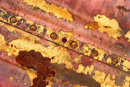 Background from iron covered with a rust and red paint Stock Photo - 4471200
