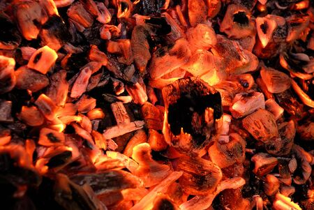 Closeup of the fire wood on black Stock Photo - 4691338