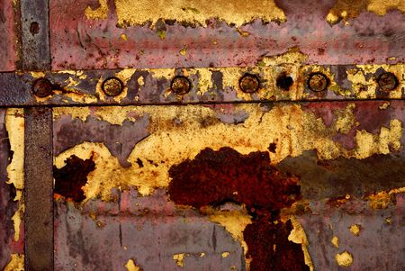 Background from iron covered with a rust and red paint Stock Photo - 4830152