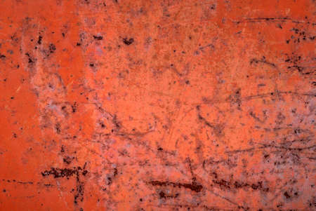 Background from iron covered with a rust and red paint photo