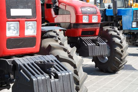 Exhibition of new tractors for agriculture and other works Stock Photo - 5356014