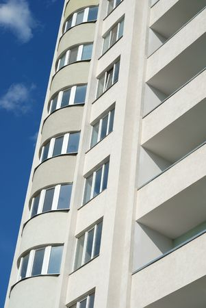 The facade of a modern apartment building Stock Photo - 5386563