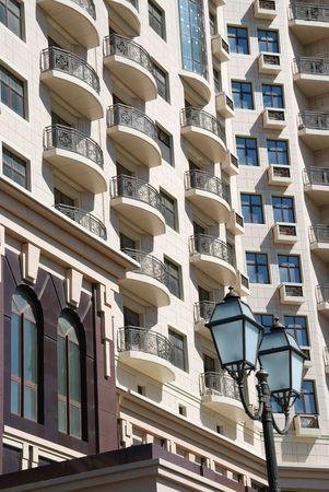 The facade of a modern apartment building Stock Photo - 5464974