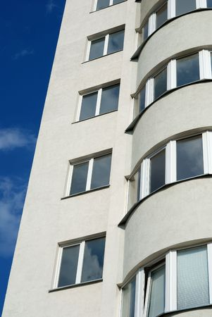 The facade of a modern apartment building Stock Photo - 5600614