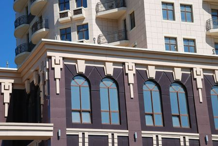 The facade of a modern apartment building Stock Photo - 5646920