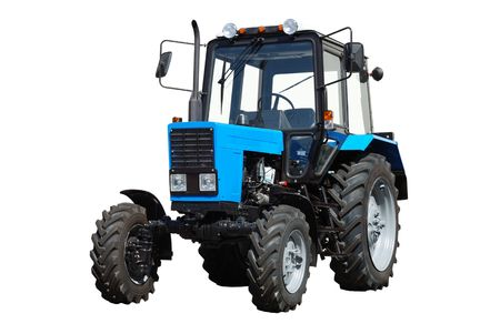New blue tractor isolated on white background Stock Photo - 5793651