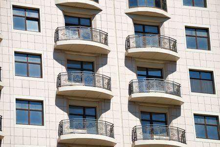 The facade of a modern apartment building Stock Photo - 5854397