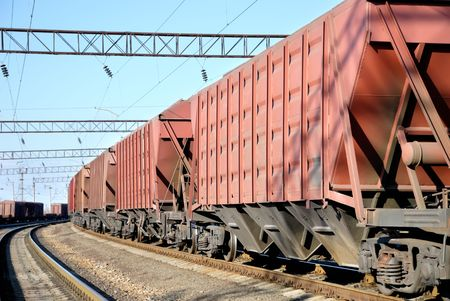 The train transportation of cargoes by rail Stock Photo - 5854513