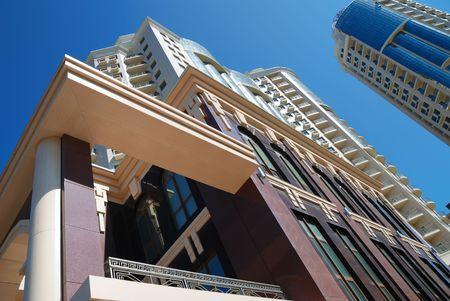 The facade of a modern apartment building Stock Photo - 6042390