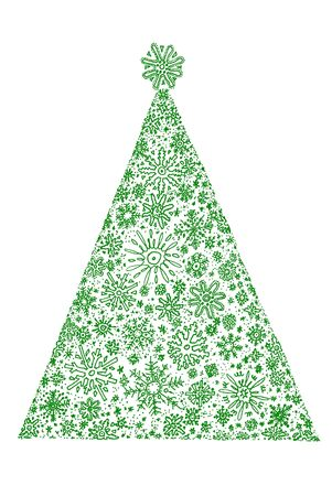 Design of the christmas fir tree on white photo