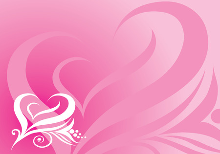 Vector background from artistic heart shape