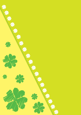 Abstract vector background with clover leafs theme Stock Vector - 6505357