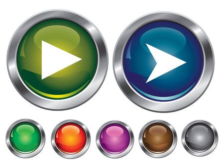 collection icons with play sign, empty button included