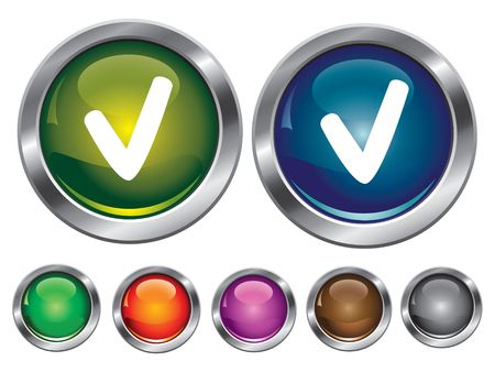 collection icons with check sign, empty button included Stock Vector - 6753833