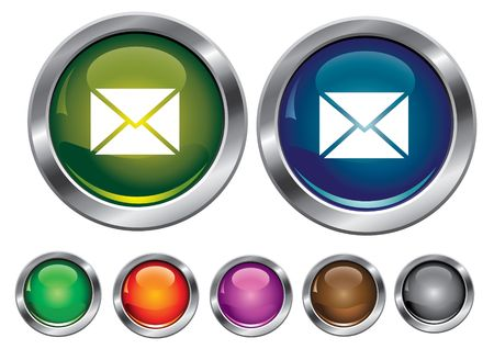 collection icons with mail sign, empty button included Stock Vector - 6823575