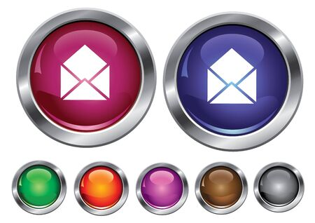 collection icons with mail sign, empty button included Stock Vector - 6823630