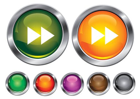 collection icons with forward sign, empty button included