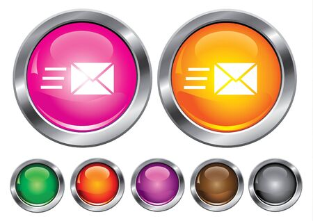 collection icons with speed mail sign, empty button included Stock Vector - 6823734