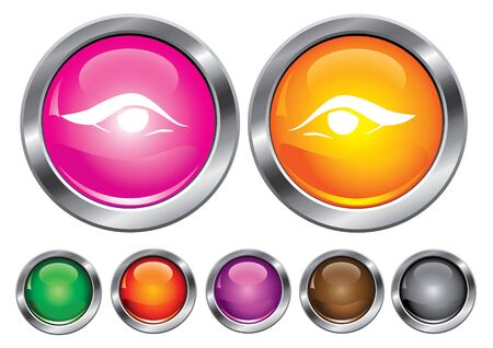 collection icons with eye sign, empty button included