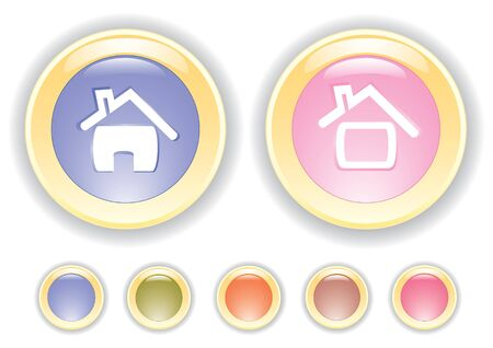 lightly: Vector collection buttons with house icon