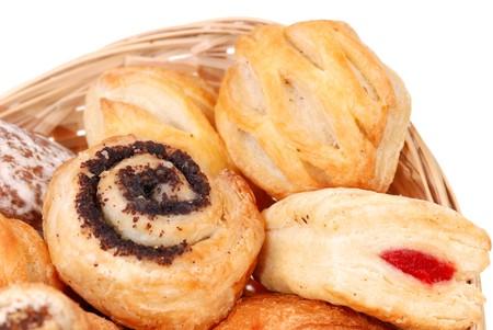bap: closeup background from variuos fresh buns