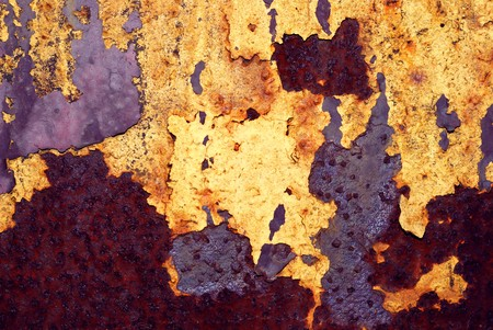 Closeup of the rusty grunge metal background Stock Photo - 6998069