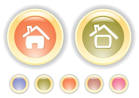 collection buttons with house icon