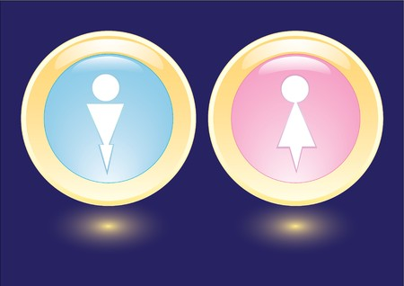 collection icons with man and woman silhouette