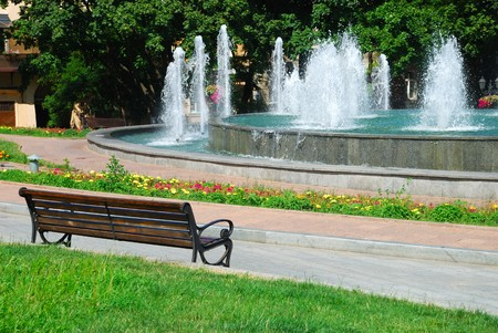 Fountain in a city park