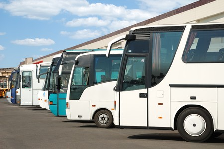 to expect: Tourist buses on a parking expect passengers