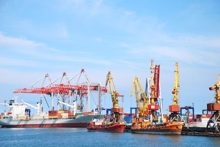 Port warehouse with containers and industrial cargoes Stock Photo - 7617012