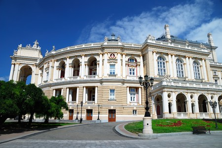 odessa: Building of Opera theater in Odessa, Ukraine Stock Photo