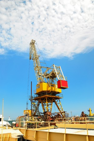 Sea platform with the crane for repair Stock Photo - 7876820