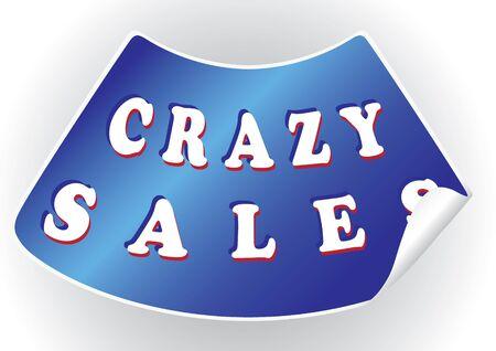 Crazy sales sticker