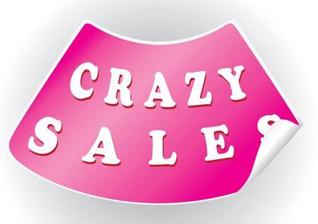 Crazy sales sticker in a vector format