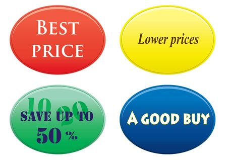 buttons with the text of sales Vector
