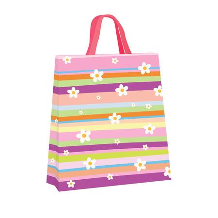 Colorful shopping bag Иллюстрация