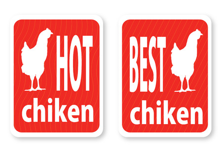 Illustration of a hot hen with the text Vector