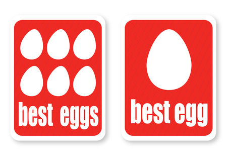 Illustration of a best eggs with the text Vector
