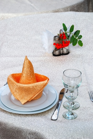 Details of a table set for fine dining Stock Photo - 8263397