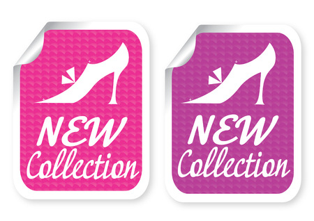 business shoes: Illustration of sticker with a text